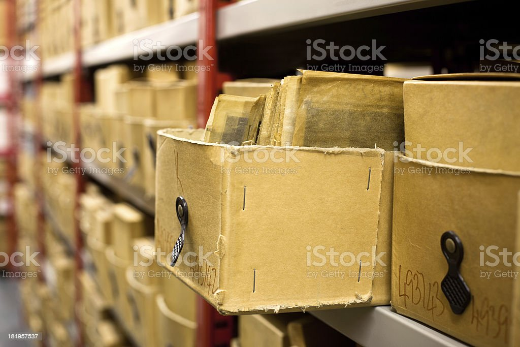 Boxes with photographs royalty-free stock photo