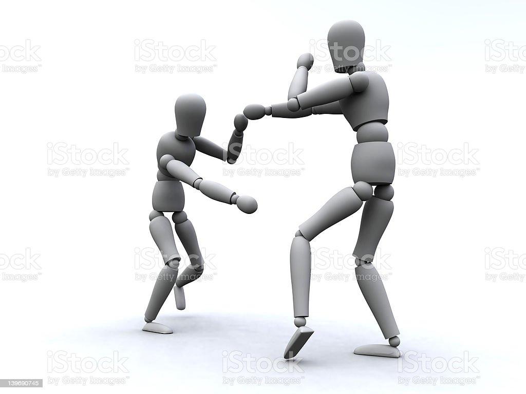 Boxing 3 royalty-free stock photo
