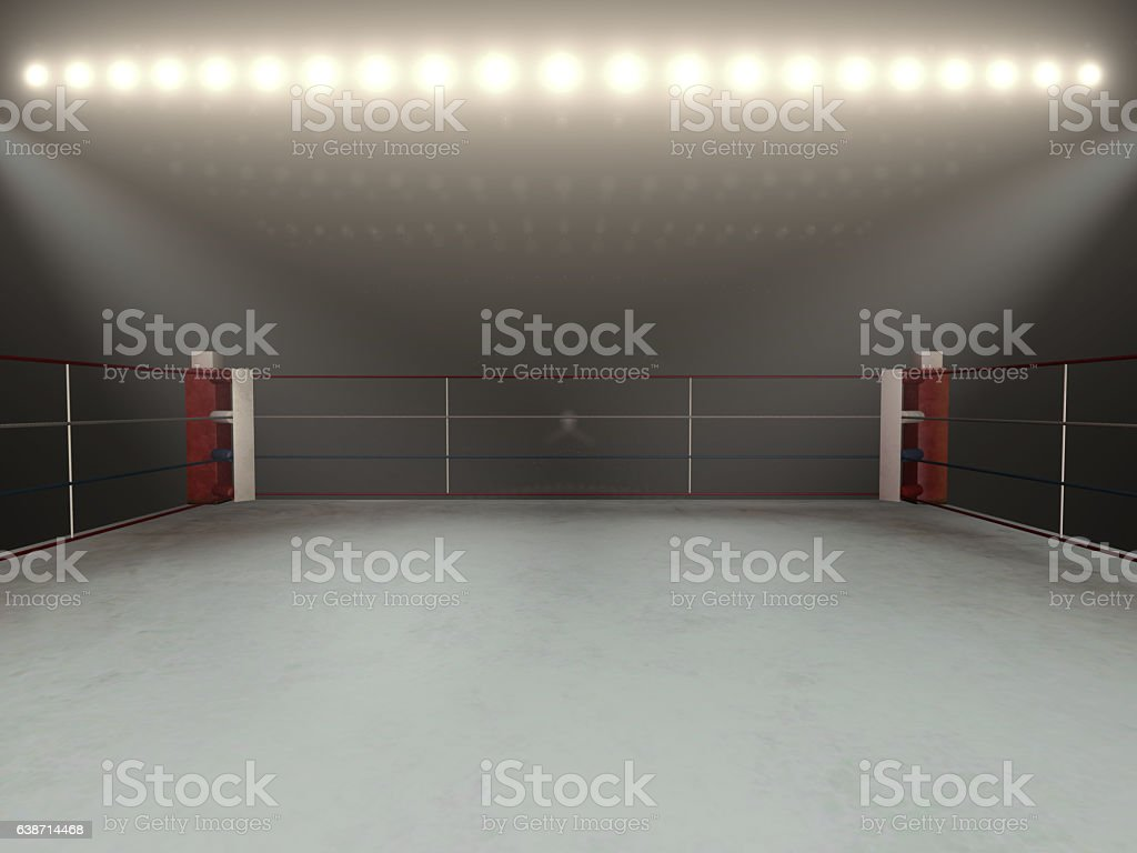 Boxing arena stock photo