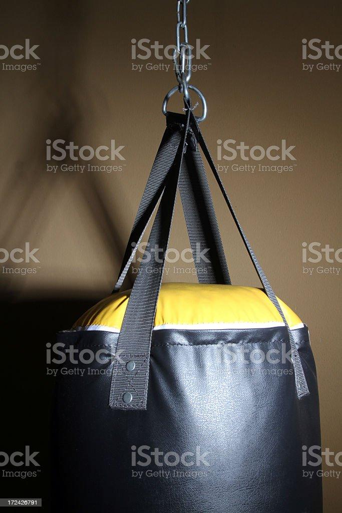 Boxing bag vertical royalty-free stock photo