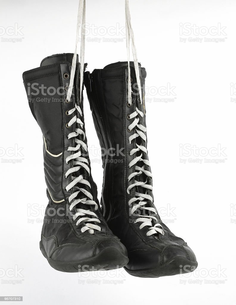 Boxing boots, isolated stock photo