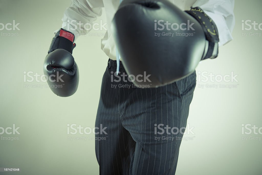 boxing businessman royalty-free stock photo