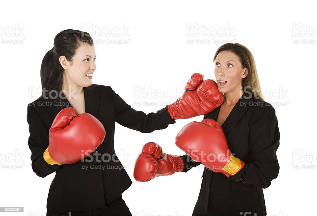 Boxing businesswomen royalty-free stock photo