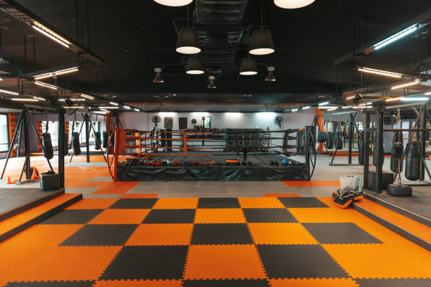 Boxing club stock photo