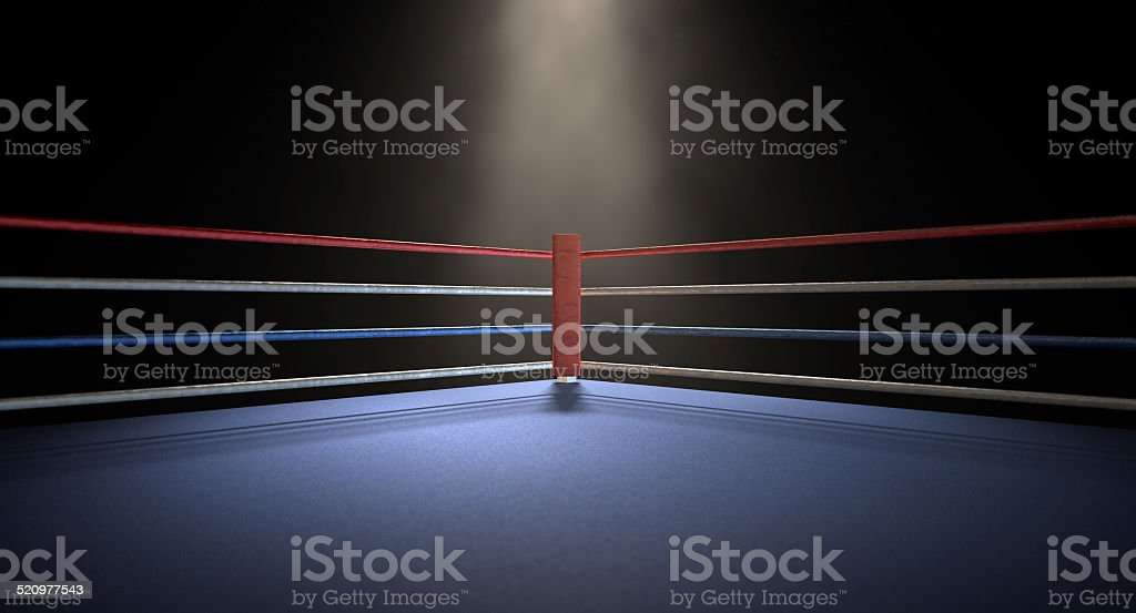 Boxing Corner Spotlit Dark stock photo