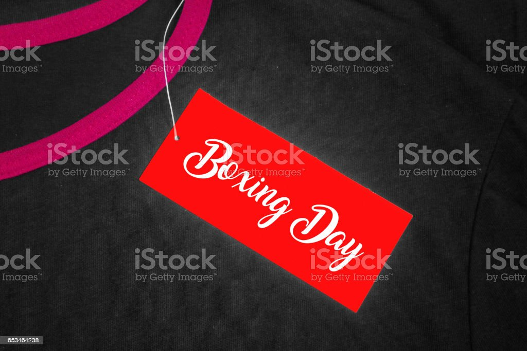Boxing Day stock photo