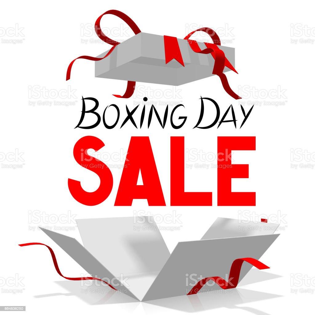 Boxing Day sale illustration stock photo