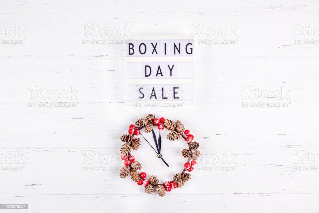 Boxing day sale seasonal promotion stock photo