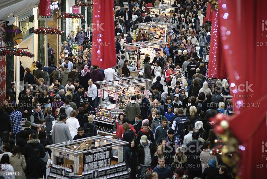 Boxing Day shopping madness. royalty-free stock photo