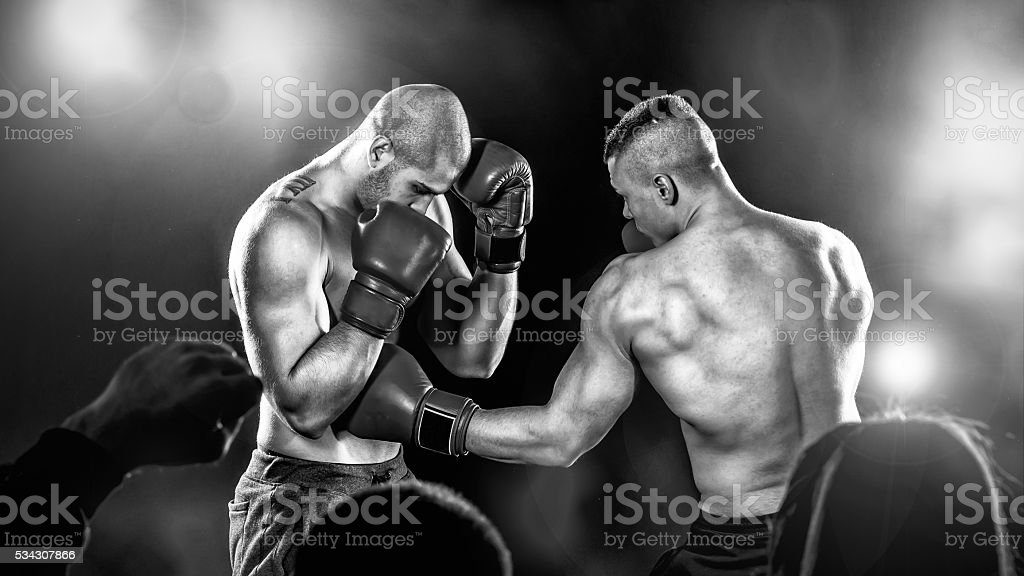 Boxing Fight Night stock photo