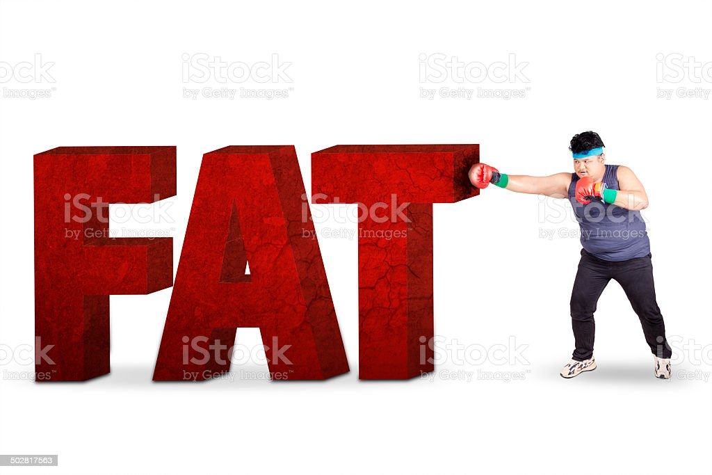 Boxing for lose weight 1 stock photo