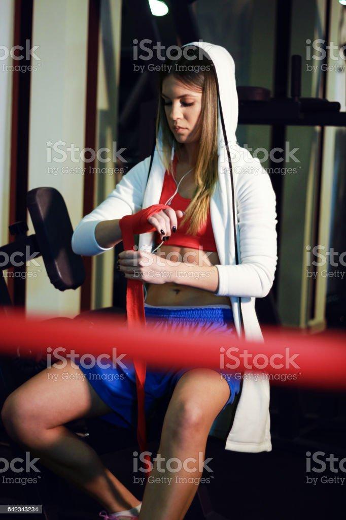 Boxe feminino - foto de acervo