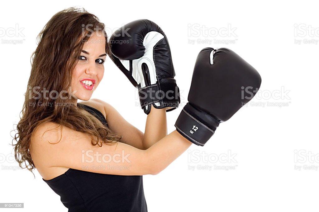 Boxing girl royalty-free stock photo