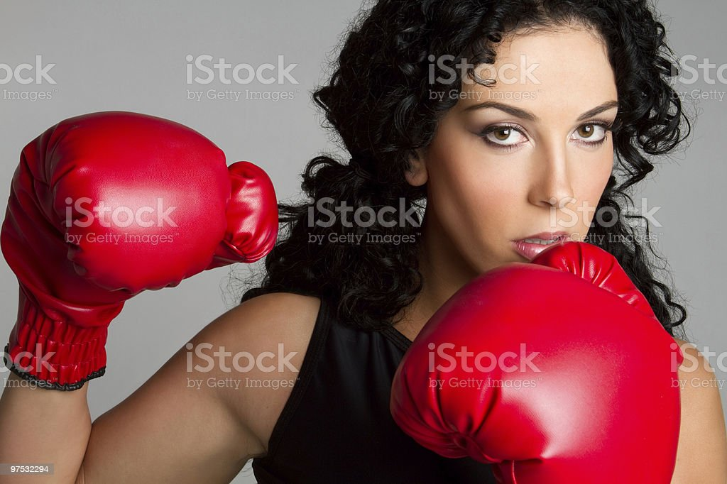 Boxing Girl royalty-free stock photo