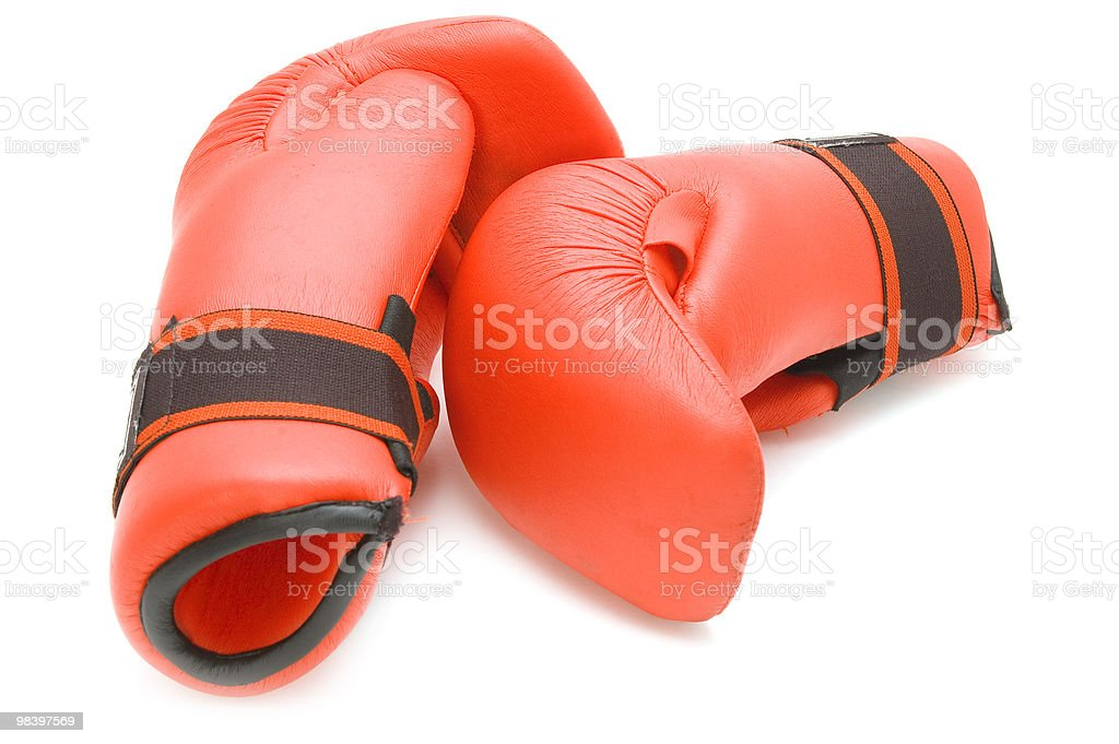 boxing glove on white royalty-free stock photo