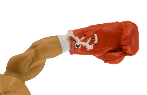 boxing glove with clipping path