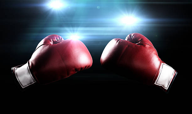 boxing gloves and flashes - sports glove stock photos and pictures