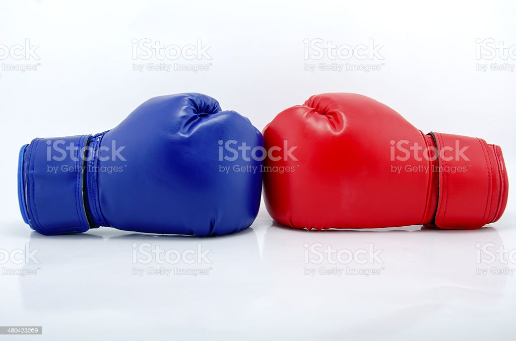 Boxing gloves close up royalty-free stock photo