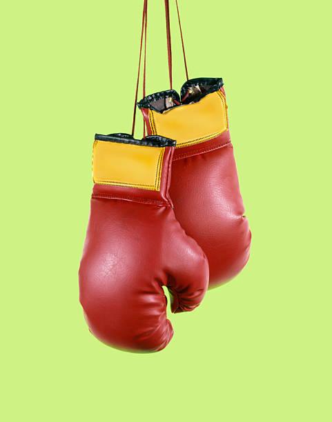 boxing Handschuhe-Schnitt auf Grün – Foto