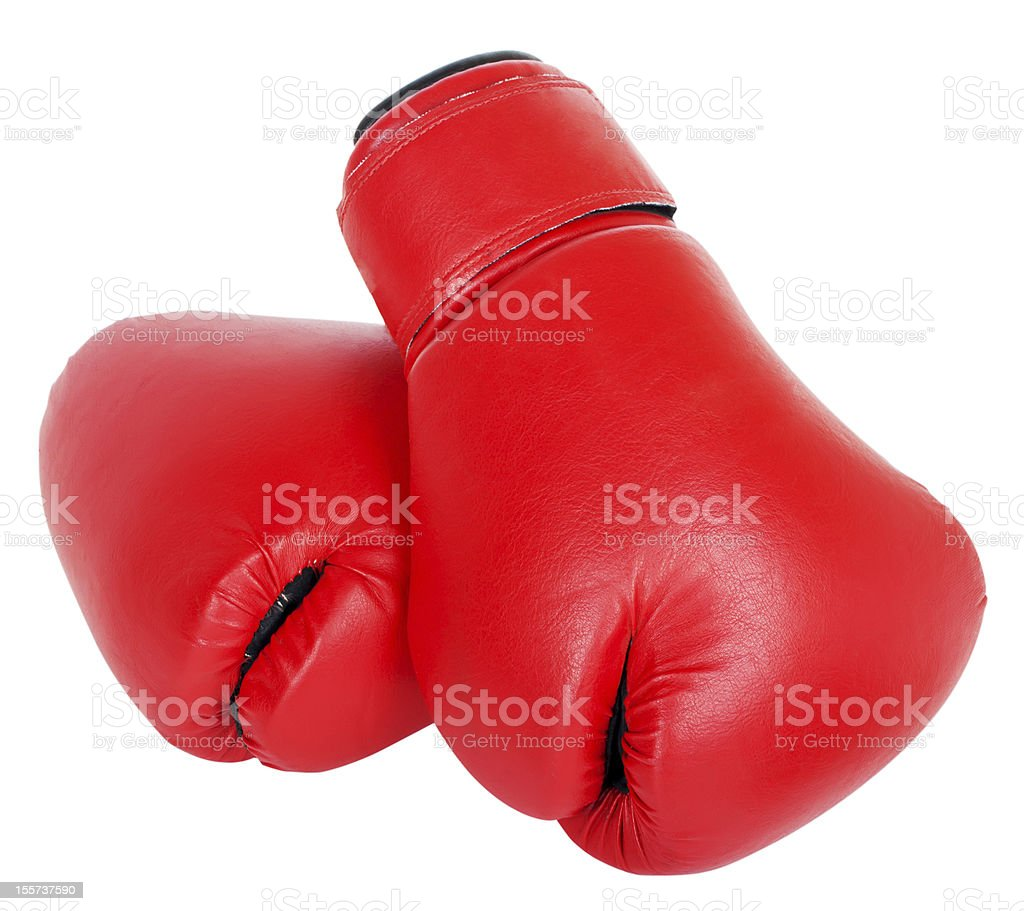 boxing gloves isolated on white royalty-free stock photo