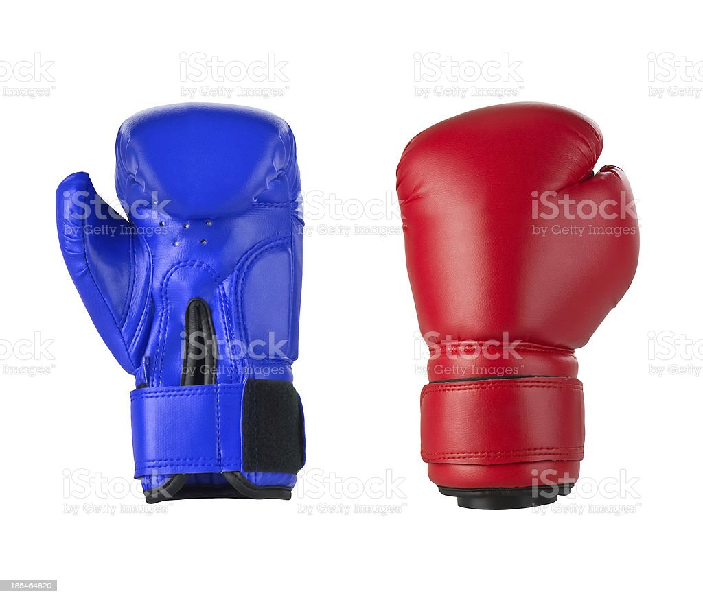 Boxing gloves on a white royalty-free stock photo