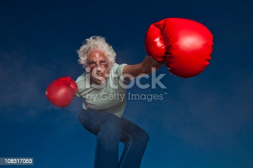 istock Boxing Grandmother 108317053