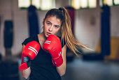istock Boxing in the gym 1180164420