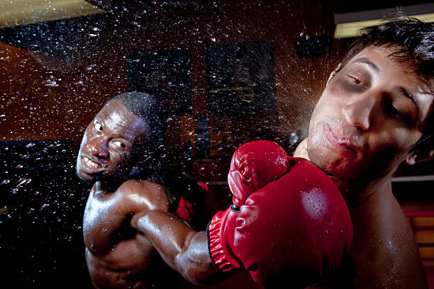 boxing knock out - punching stock photos and pictures