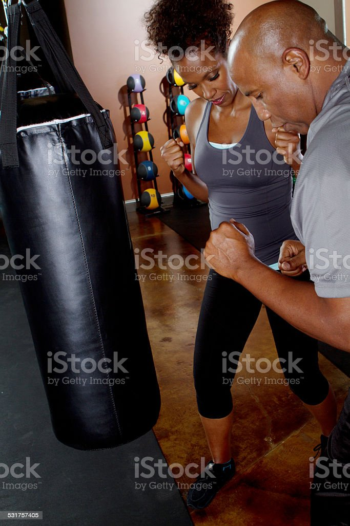 Boxing Lessons stock photo