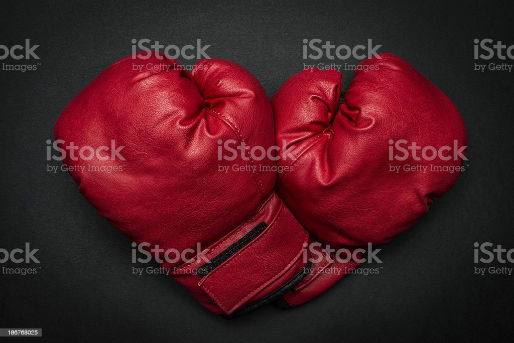 Boxing Love royalty-free stock photo