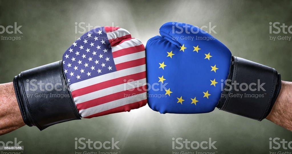 Ein Boxkampf zwischen den USA und der Europäischen Union – Foto