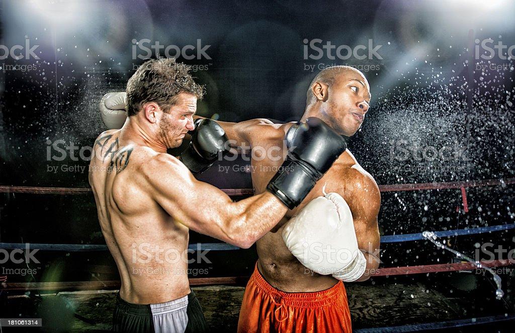 Combate de boxeo - foto de stock
