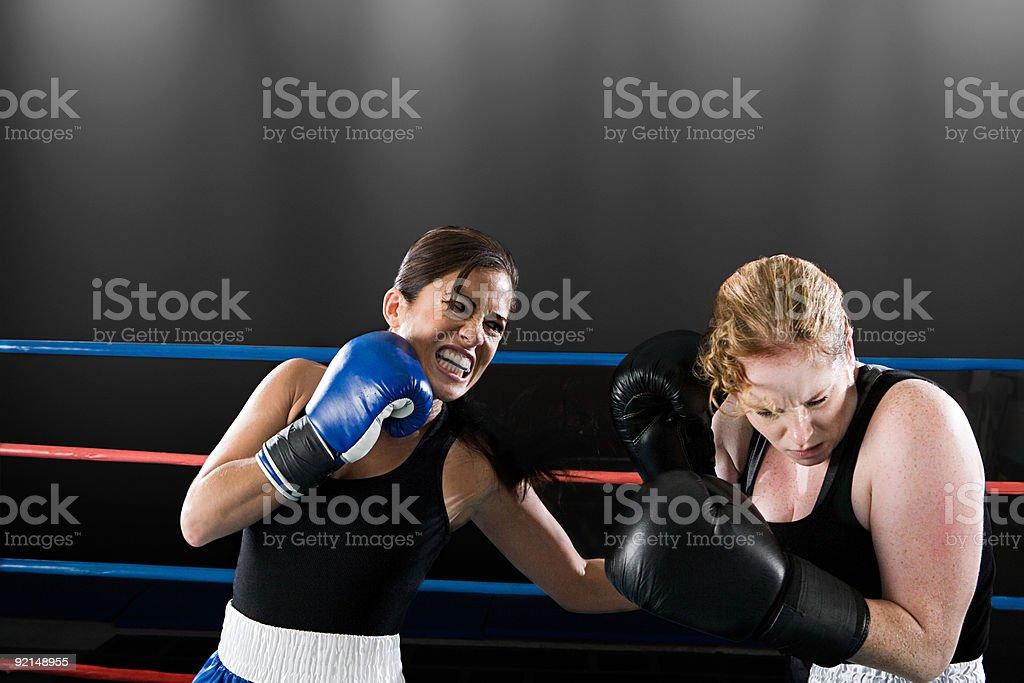 Boxing match royalty-free stock photo