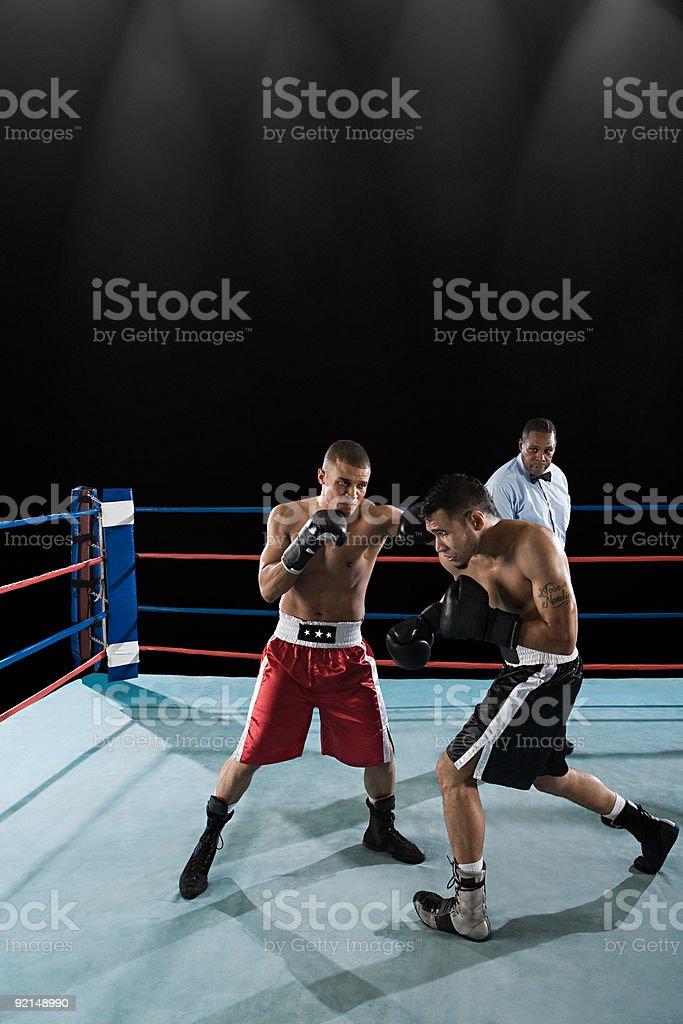 Incontro di boxe - foto stock