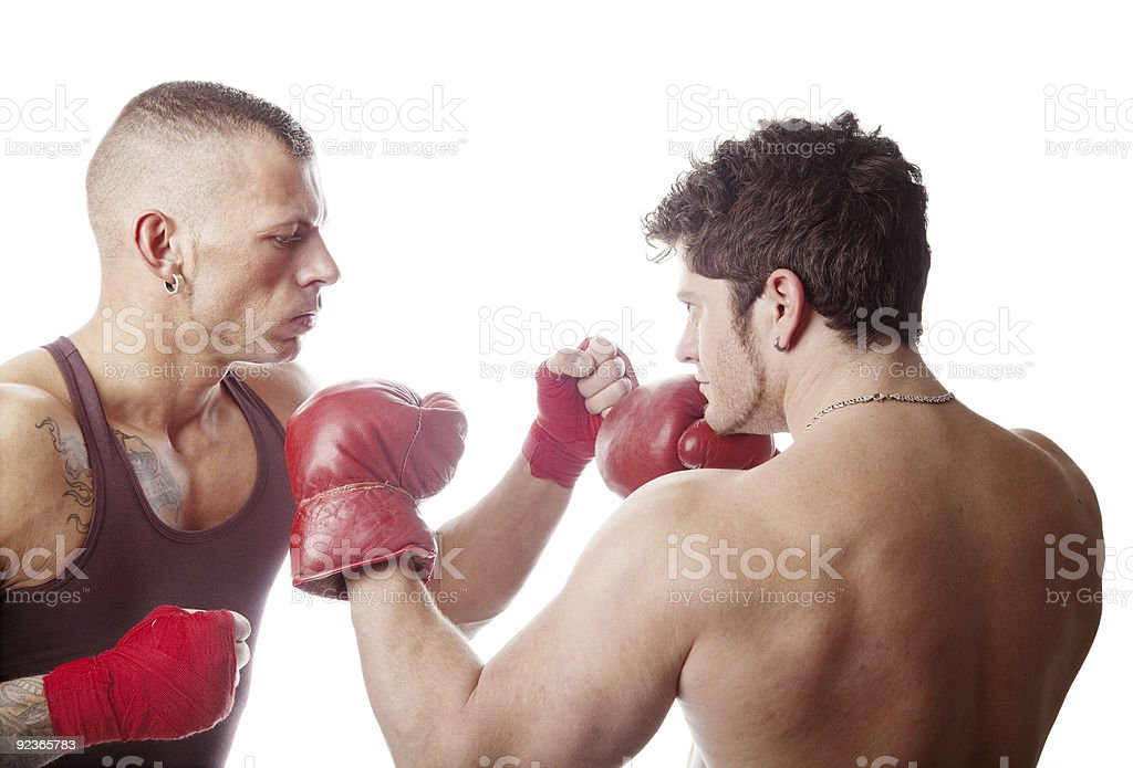 Boxing men royalty-free stock photo