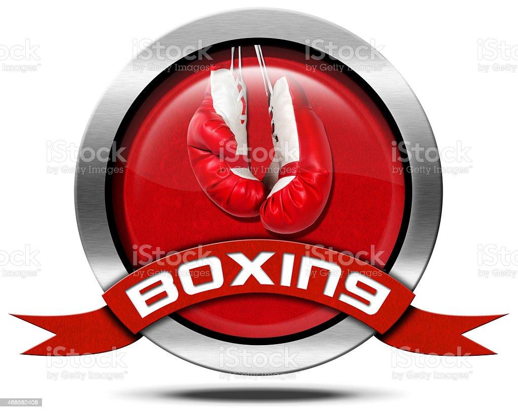 Boxing - Metal Icon stock photo