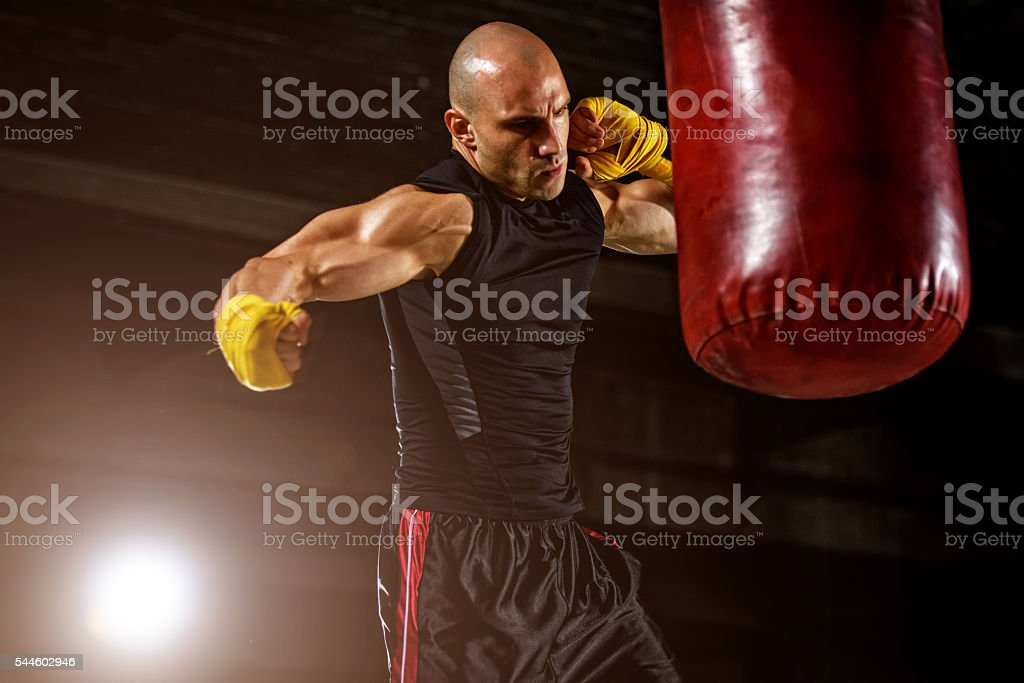 Boxing, MMA Workout stock photo