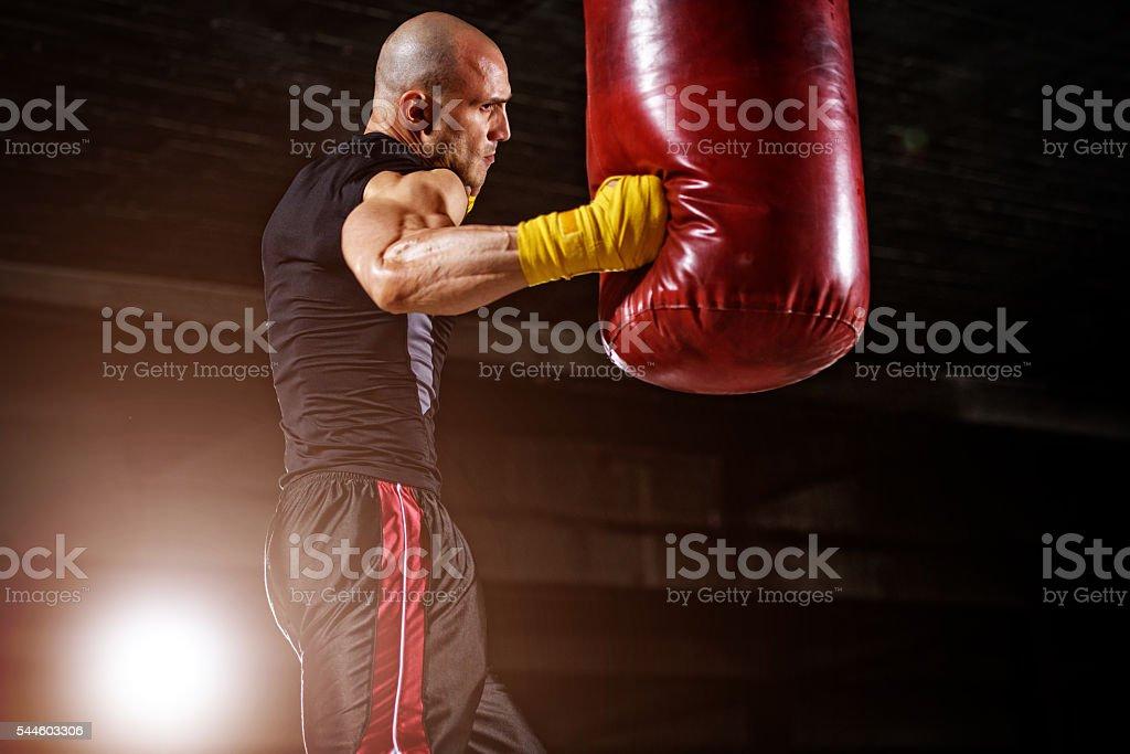 Boxing, MMA Workout stock photo