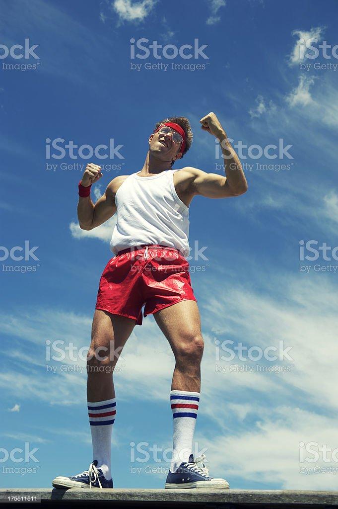 Boxing Nerd Athlete Ready to Fight stock photo