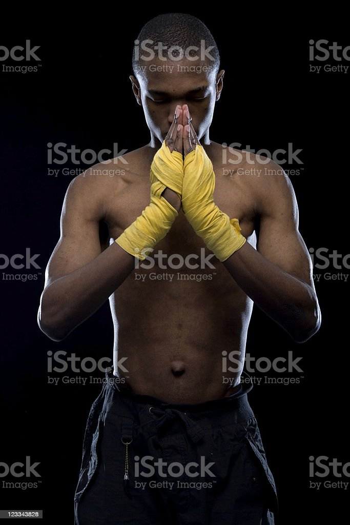 Boxing Portrait Series royalty-free stock photo