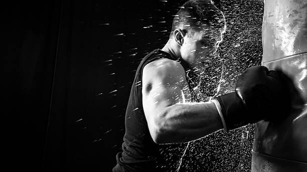 Boxing power stock photo