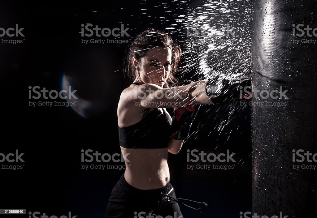 Potencia de boxeo - foto de stock