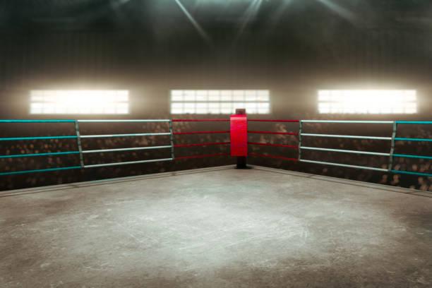 Anillo de boxeo 3D render - foto de stock
