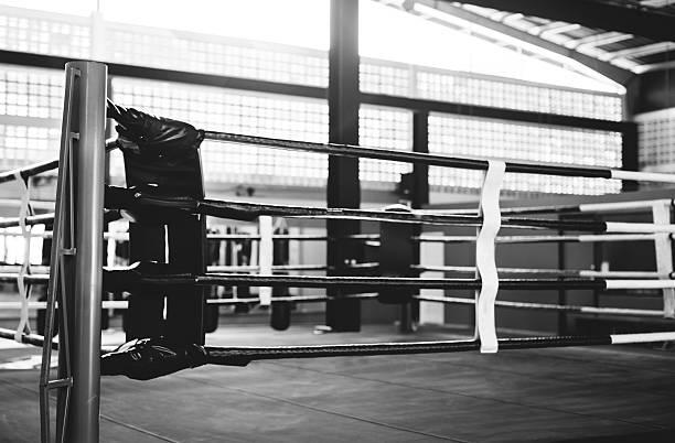 Boxing RIng Arena Stadium Fighting Competitive Sport Concept - foto de stock