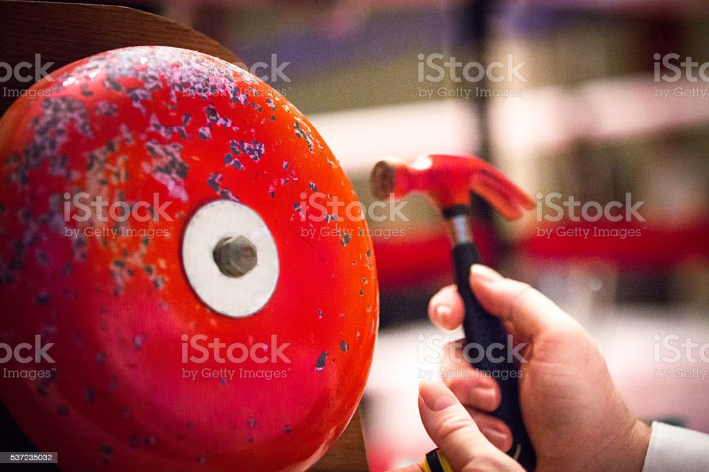 Boxing Ring Bell stock photo