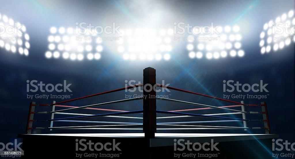 Ring de boxeo en Arena - foto de stock