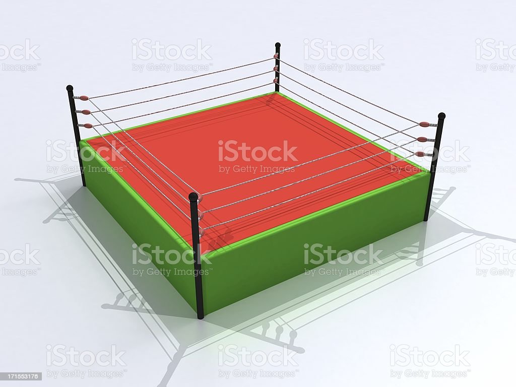 3D  boxing ring royalty-free stock photo