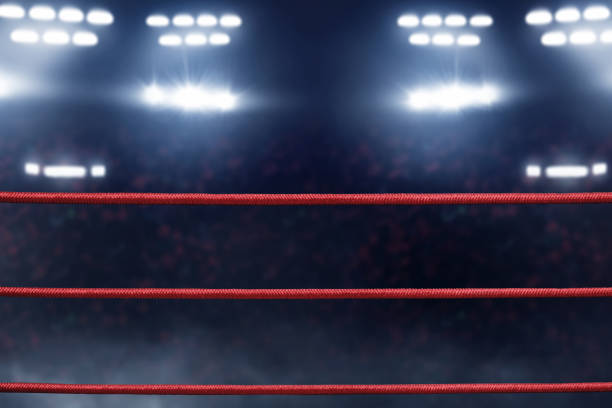 boxing ring ropes - wrestling stock pictures, royalty-free photos & images