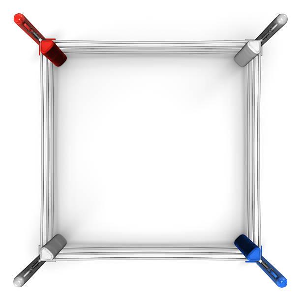Ring de boxeo vista superior - foto de stock