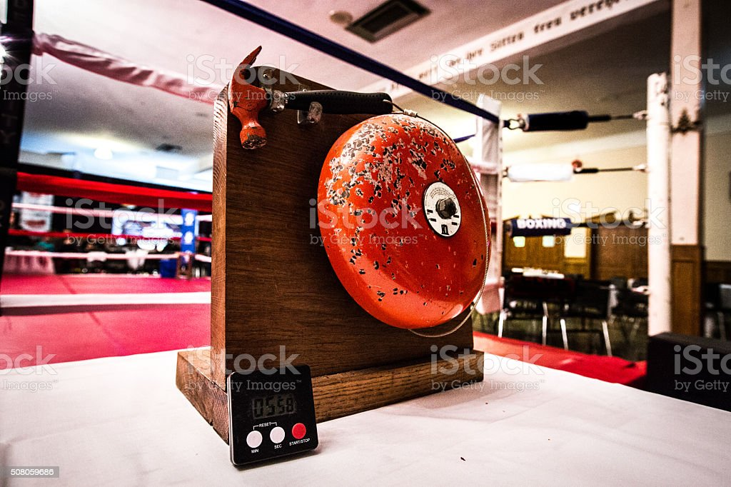 Boxing Ring with Bell stock photo